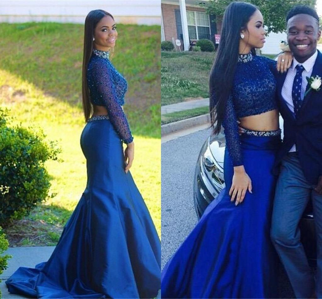 1b2944be41b9 Mermaid Prom Gown,Taffeta Prom Dresses,Royal Blue Evening Gowns,Beaded  Party Dresses