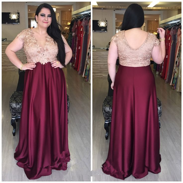 Plus Sizes Prom Dresses,Prom Dress,Prom Gowns,Prom Dresses,V-neck ...