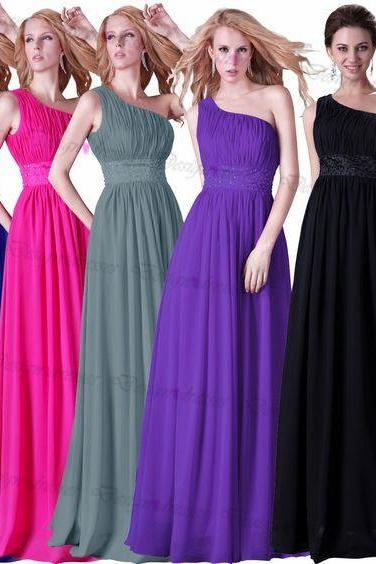 One-shoulder prom dress 2016 evening dress party dress bridesmaid dress on luulla dress
