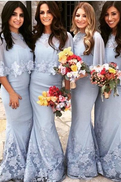 mermaid bridesmaid dress ,elegant bridesmaid dress,long bridesmaid dress